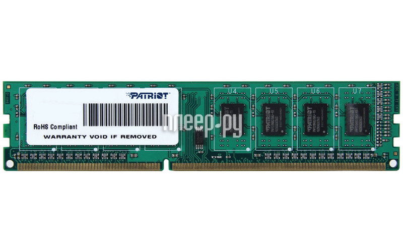 Модуль памяти Patriot Memory DDR3 DIMM 1600Mhz PC3-12800 CL11 - 8Gb PSD38G16002