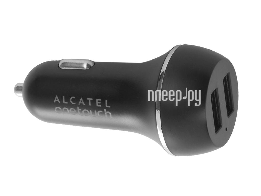 Зарядное устройство Alcatel 2xUSB 5V 1300 mA + 1000 mA Black ALC-CC60-3AALCCG