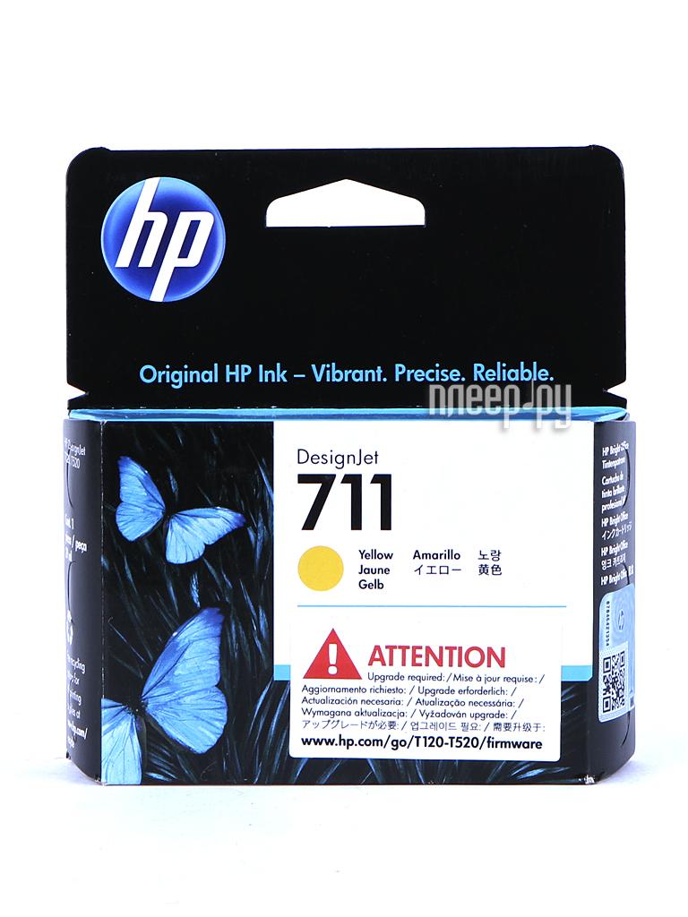 Картридж HP 711 CZ132A Yellow