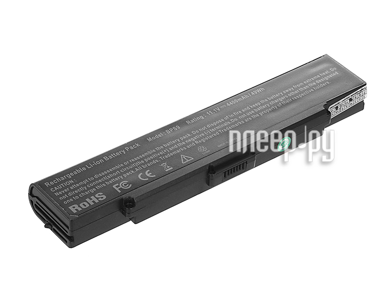 Аккумулятор Tempo BPS9-NOCD 11.1V 4400mAh для Sony Vaio VGN-CR/VGN-AR/VGN-NR/VGN-SZ6 Series