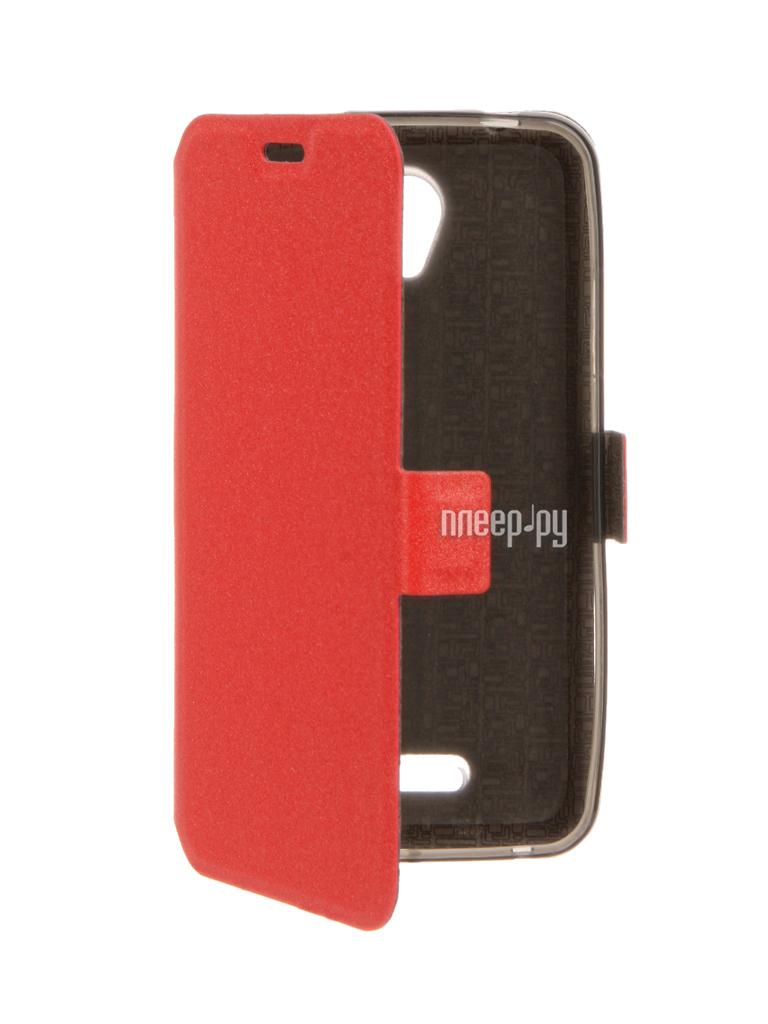 Аксессуар Чехол Lenovo A1010 / A2016 SkinBox Prime Book Red T-P-LA1010-05