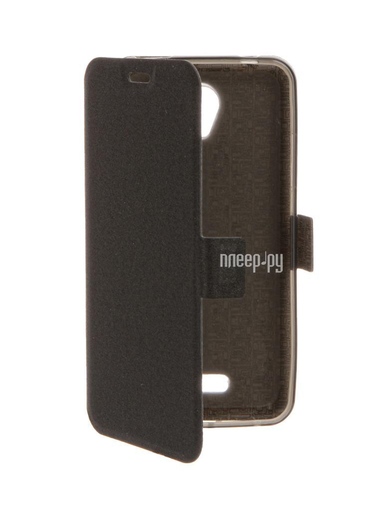 Аксессуар Чехол Lenovo A1010 / A2016 SkinBox Prime Book Black T-P-LA1010-05