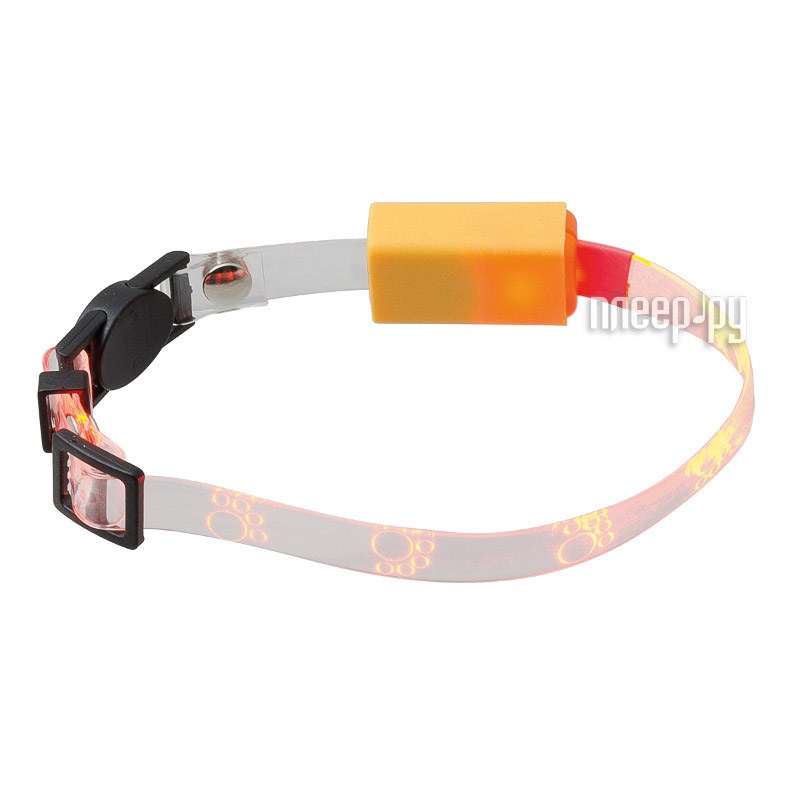 Ошейник светодиодный V.I.Pet Лапки 20-27cm Orange 14-9004