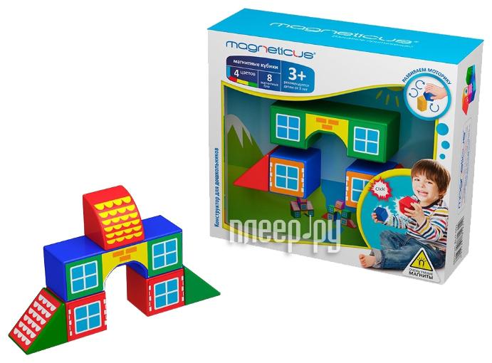 Конструктор Magneticus Кубики - домики BLO-001-3