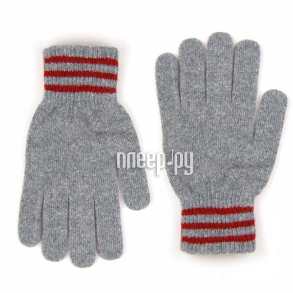 Теплые перчатки для сенсорных дисплеев iGloves V2 Light Grey-Red Line