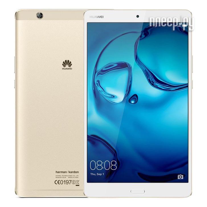 Huawei MediaPad M3 8 LTE 64Gb BTV-DL09 Gold 53017256 (Kirin 950 2.3GHz/4096Mb/64Gb/GPS/LTE/3G/Wi-Fi/Bluetooth/8.4/2560x1600/Android)