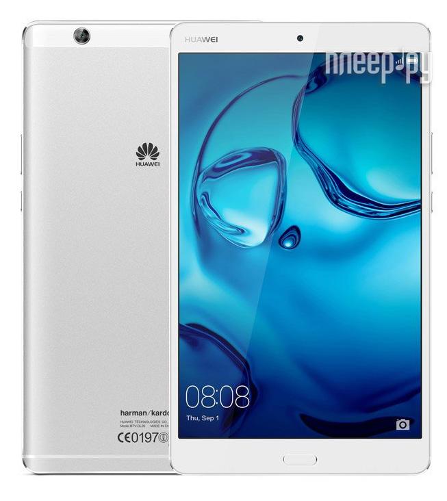 Huawei MediaPad M3 8 LTE 32Gb BTV-DL09 Silver 53017225 (Kirin 950 2.3GHz/4096Mb/32Gb/GPS/LTE/3G/Wi-Fi/Bluetooth/8.4/2560x1600/Android)