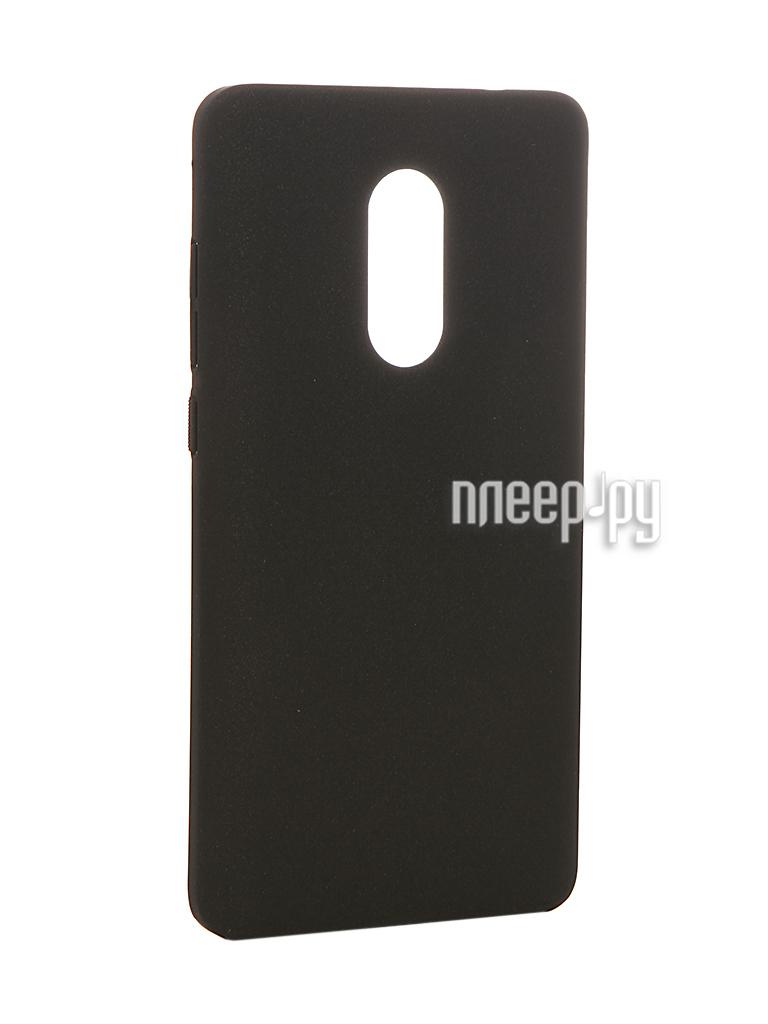 Аксессуар Чехол Xiaomi Redmi Note 4 BROSCO Softtouch Black XM-RN4-SOFTTOUCH-BLACK