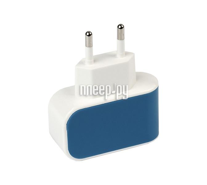 Зарядное устройство SmartBuy Color Charge Combo USB Blue SBP-8070