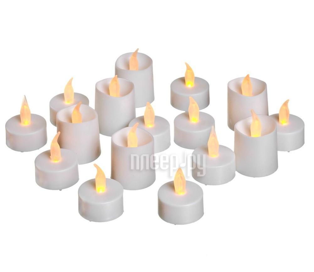 Новогодний сувенир Koopman International Набор мерцающих LED-свечей 16шт XX8990050