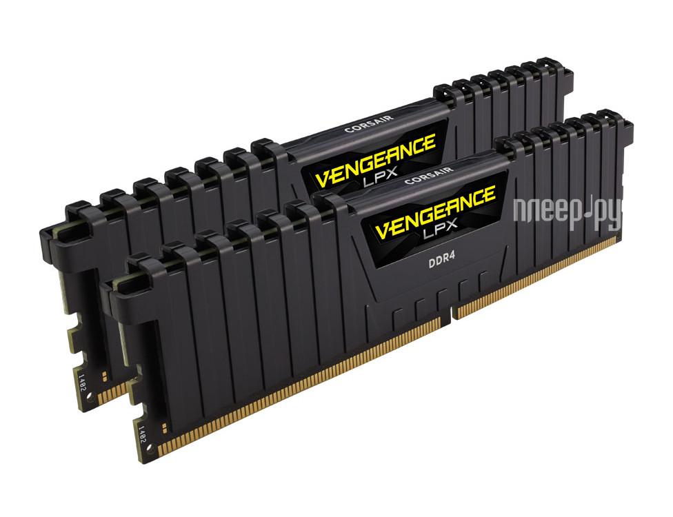 Модуль памяти Corsair Vengeance LPX DDR4 DIMM 2666MHz PC4-21300 CL16 - 32Gb KIT (2x16Gb) CMK32GX4M2A2666C16