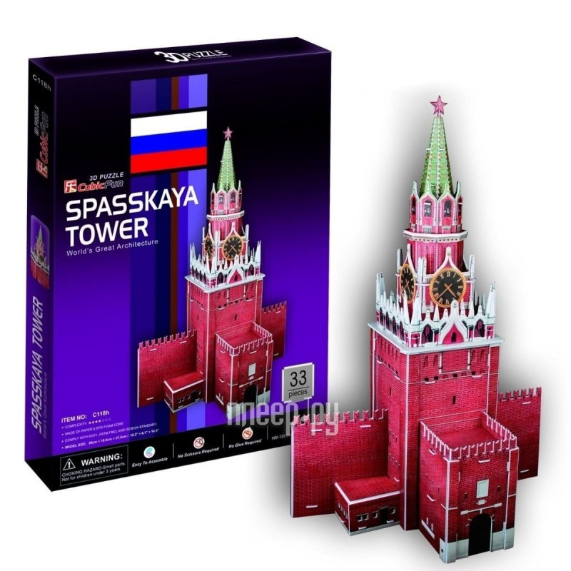 3D-пазл CubicFun Спасская башня C118h