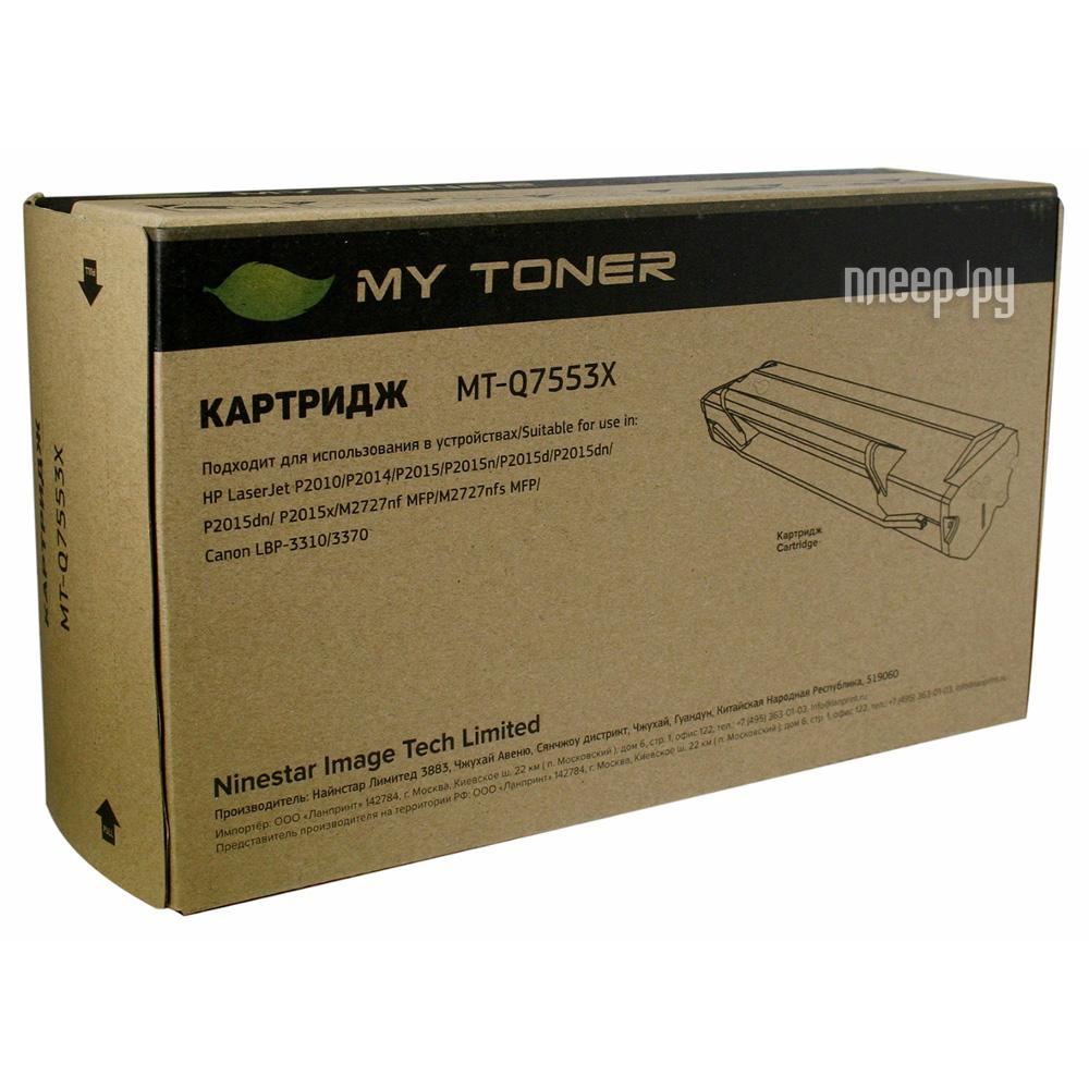 Картридж MyToner MT-Q7553X Black для HP P2014 / P2015 / M2727