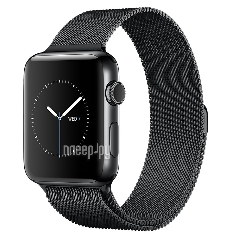Умные часы APPLE Watch Series 2 38mm Black Space with Milanese Mesh Black Space Band MNPE2RU/A