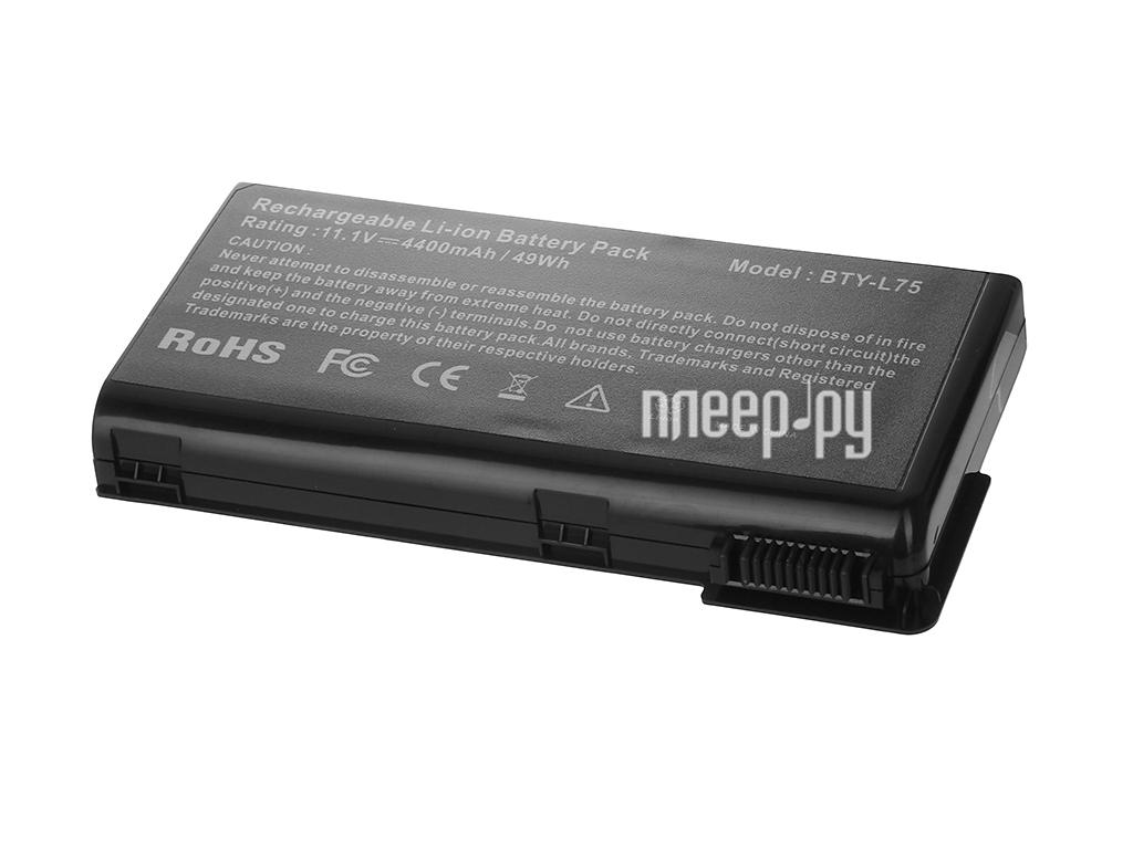 Аккумулятор Tempo CX620 11.1V 4400mAh Black для MSI MegaBook CX620/A6200 аналог PN: BTY-L74/BTY-L75/MS-1682