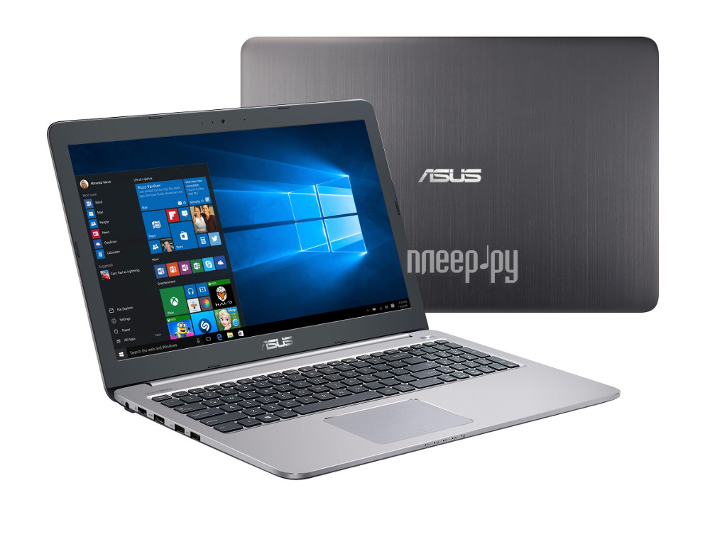 Ноутбук ASUS K501UQ-DM068T 90NB0BP2-M01220 (Intel Core i3-6100U 2.3 GHz / 4096Mb / 500Gb / No ODD / nVidia GeForce 940MX 2048Mb / Wi-Fi / Bluetooth / Cam / 15.6 / 1920x1080 / Windows 10 64-bit)