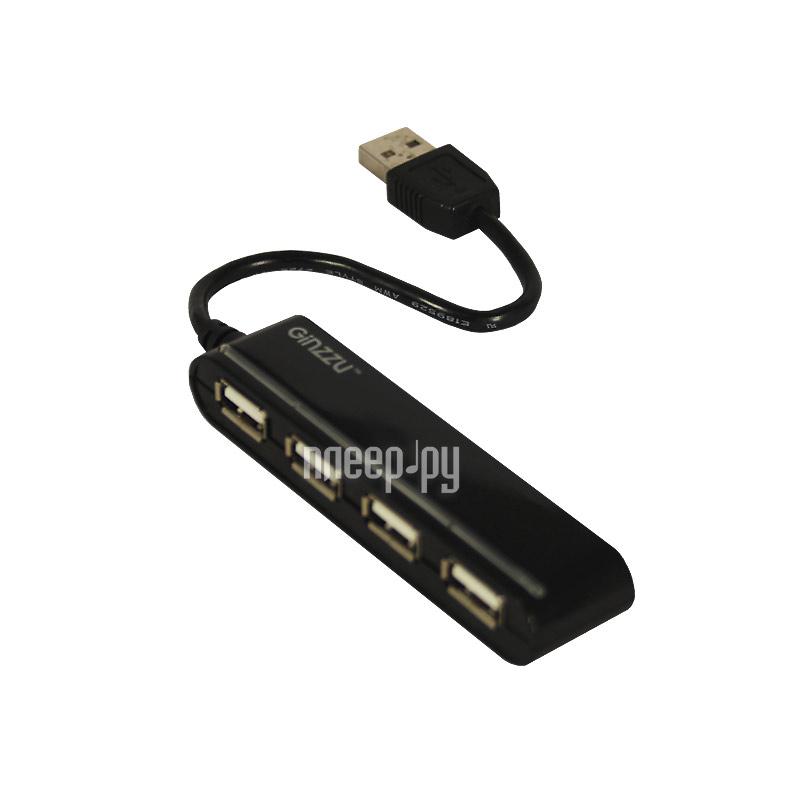Хаб USB Ginzzu GR-434UB 4-ports