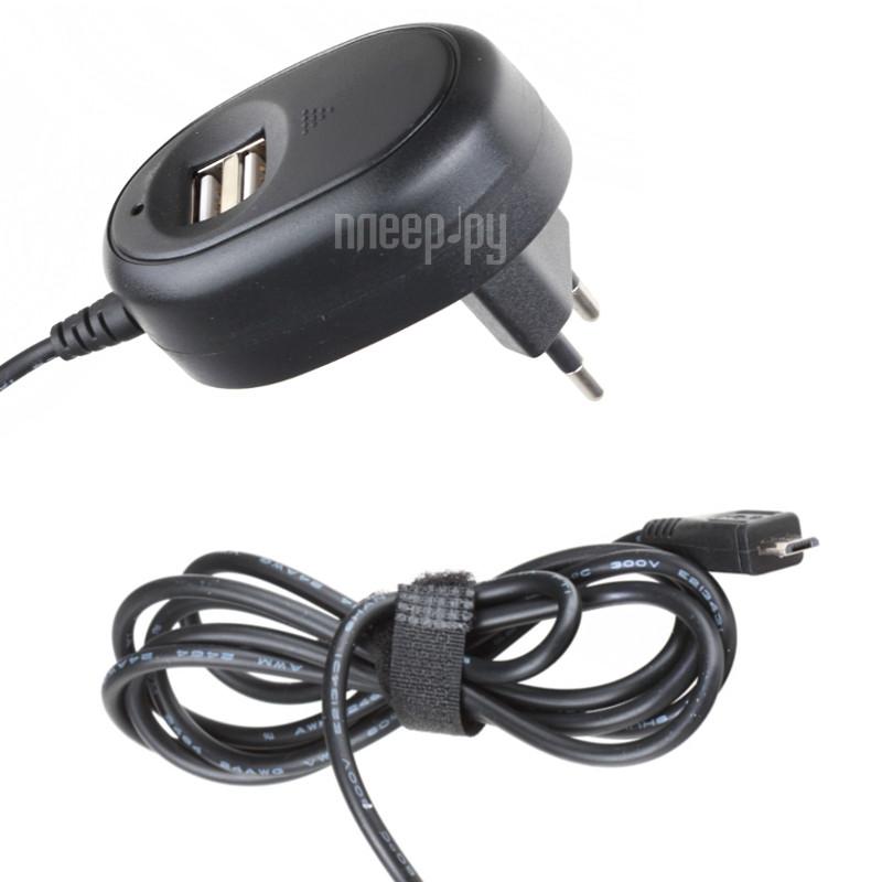 Зарядное устройство Ginzzu 2xUSB 2.5A MicroUSB Cable GA-3412UB