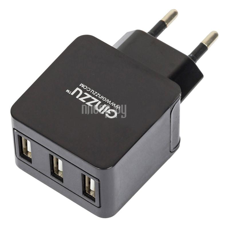 Зарядное устройство Ginzzu 3xUSB 3.1A GA-3315UB