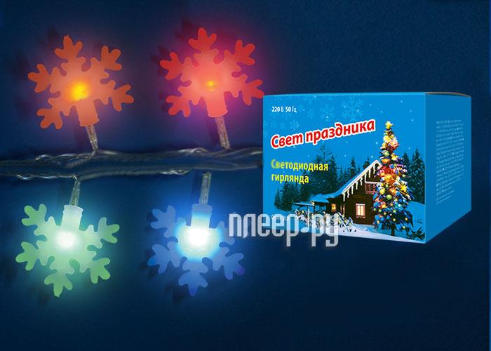 Гирлянда Uniel ULD-S0700-050 / DTA IP20 Snowflakes-3 Multi