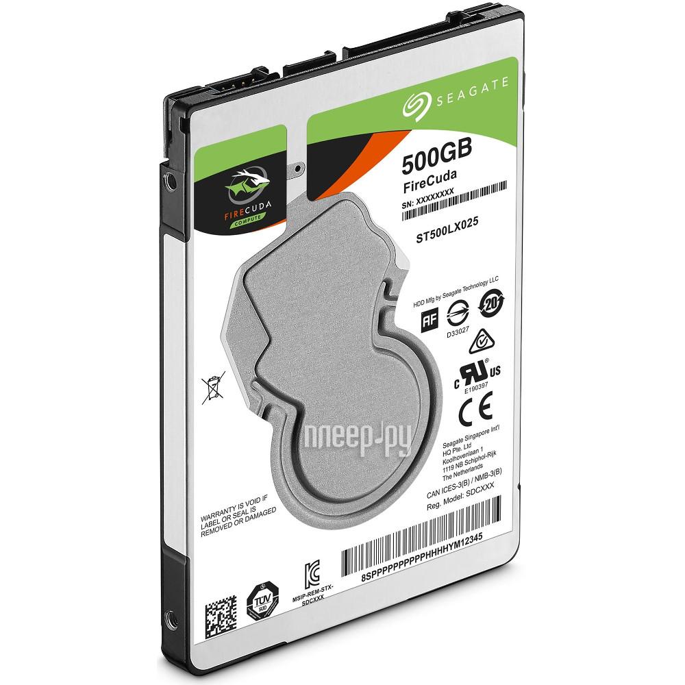 Жесткий диск 500Gb - Seagate FireCuda SSHD ST500LX025 купить
