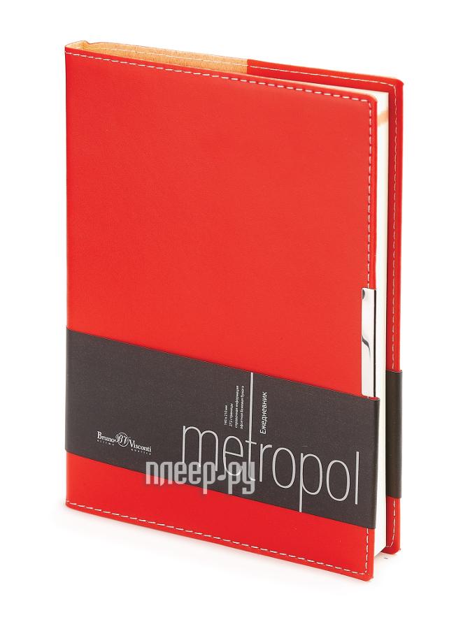 Ежедневник Bruno Visconti Metropol A5 Red 3-491/02