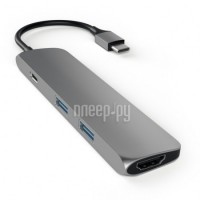 Аксессуар Satechi Slim Aluminum Type-C Multi-Port Adapter Grey ST-CMAM