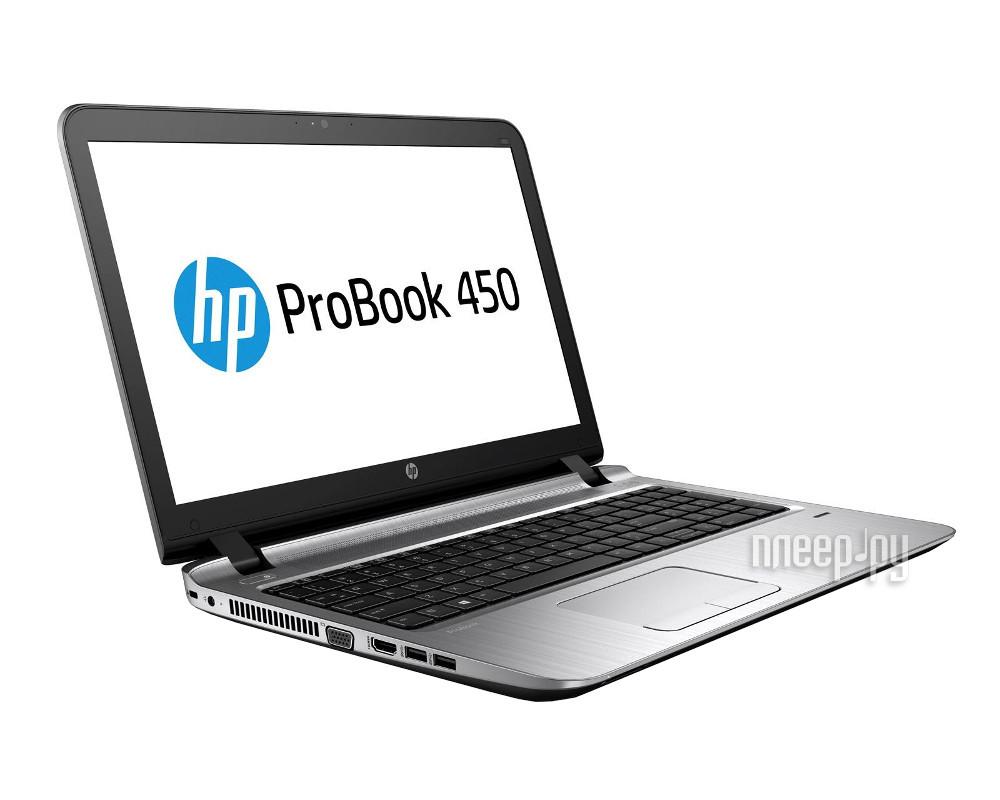 Ноутбук HP ProBook 450 W4P63EA (Intel Core i5-6200U 2.3 GHz / 4096Mb / 500Gb / DVD-RW / Intel HD Graphics / Wi-Fi / Bluetooth / Cam / 15.6 / 1366x768 / Windows 7 64-bit)
