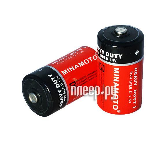 Батарейка D - MINAMOTO 1.5V R20 SR2 (2 штуки)