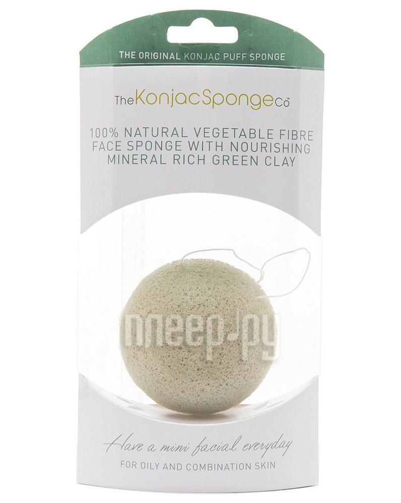 Средство для ухода за лицом The Konjac Sponge Company Premium мини-спонж с зеленой глиной - подарочный