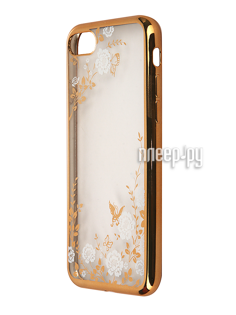 Аксессуар Чехол SkinBox Silicone Chrome Border Color Style 1 4People для iPhone 7 White T-S-AI7-009