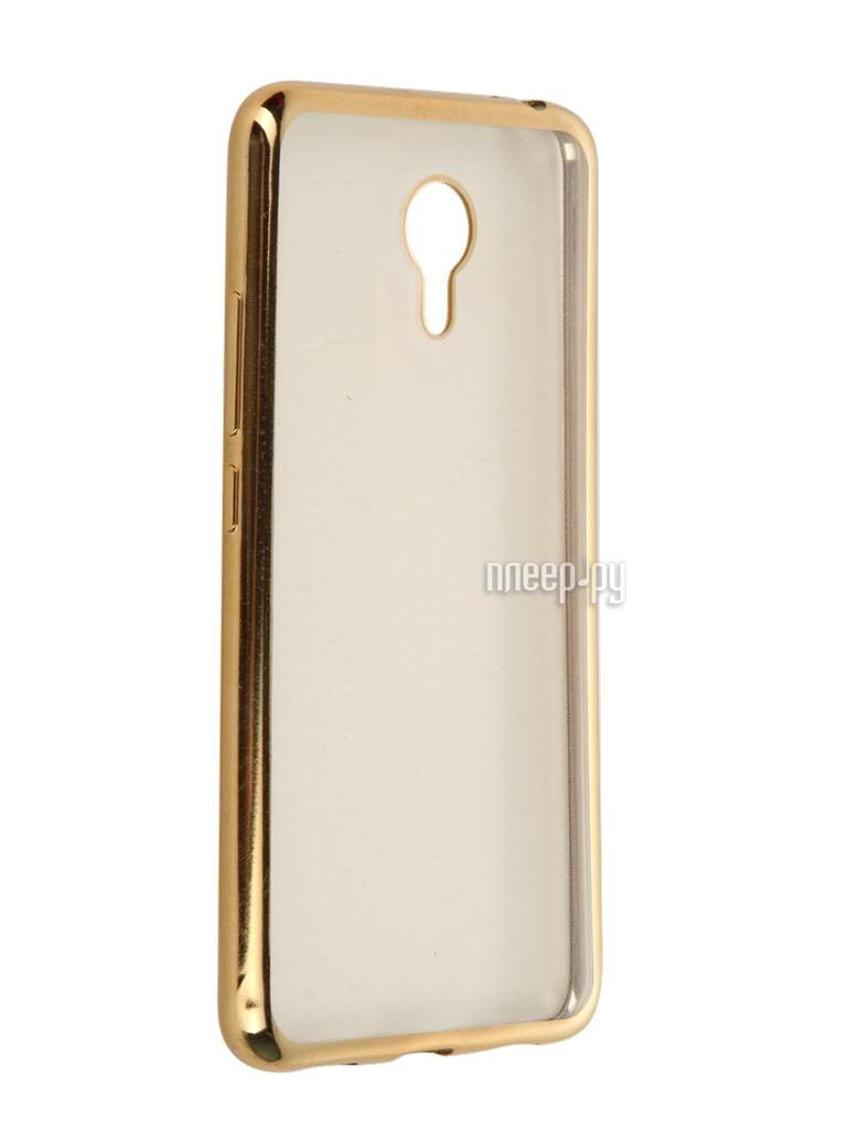 Аксессуар Чехол Meizu M3 Note SkinBox Silicone Chrome Border 4People Gold T-S-MM3N-008