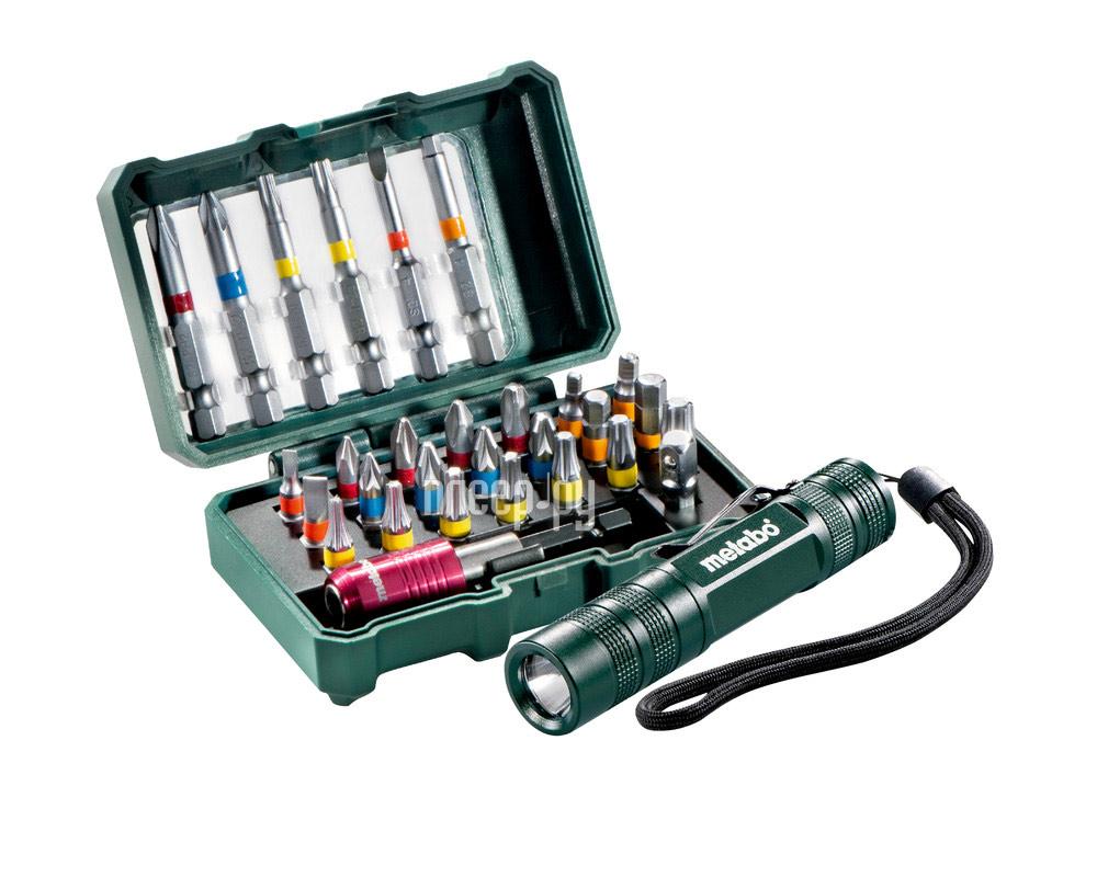 Набор бит Metabo 626721000 + LED фонарик