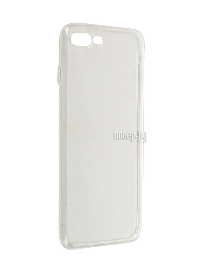 Аксессуар Чехол Krutoff Silicone для APPLE iPhone 7 Plus Transparent 11779