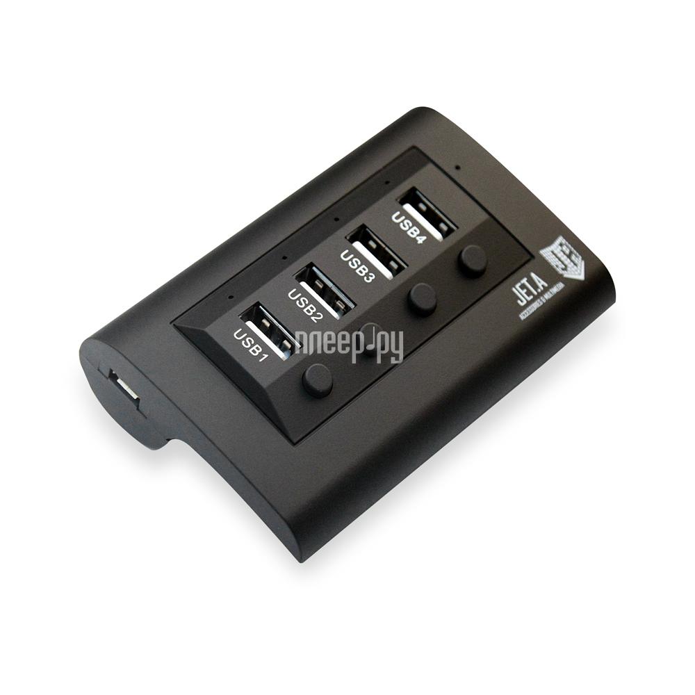 Хаб USB Jet.A JA-UH14 USB 4 ports Black