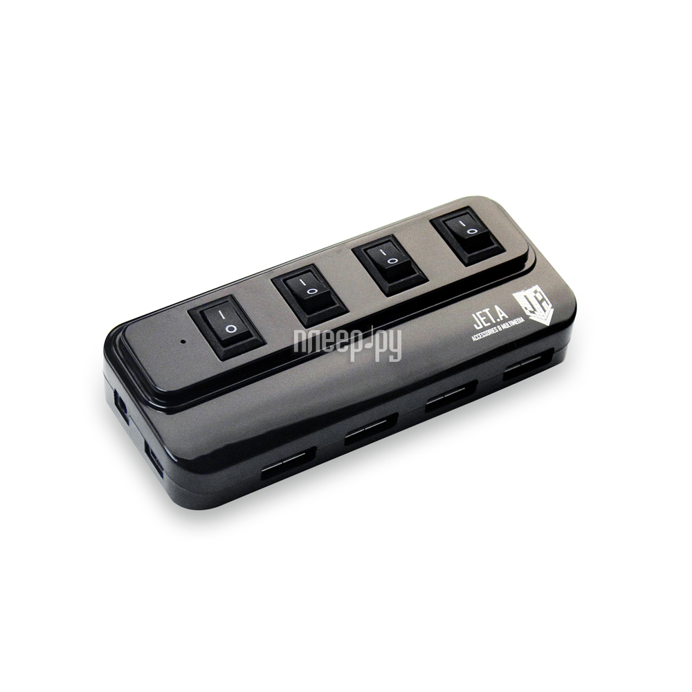 Хаб USB Jet.A JA-UH15 USB 4 ports Black