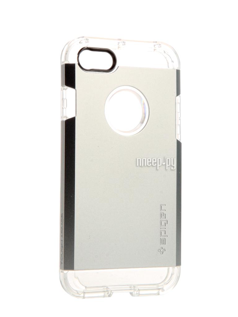 Аксессуар Чехол Spigen SGP Tough Armor для APPLE iPhone 7 Silver 042CS20672 купить