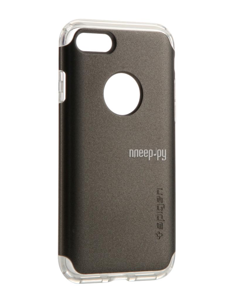 Аксессуар Чехол Spigen SGP Hybrid Armor для APPLE iPhone 7 Steel 042CS20693