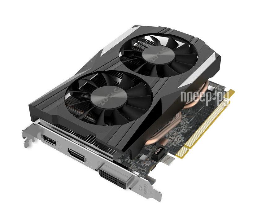 Видеокарта Zotac GeForce GeForce GTX 1050 Ti OC Edition 1392MHz PCI-E 3.0 4096Mb 7000Mhz 128 bit DVI HDMI HDCP ZT-P10510B-10L