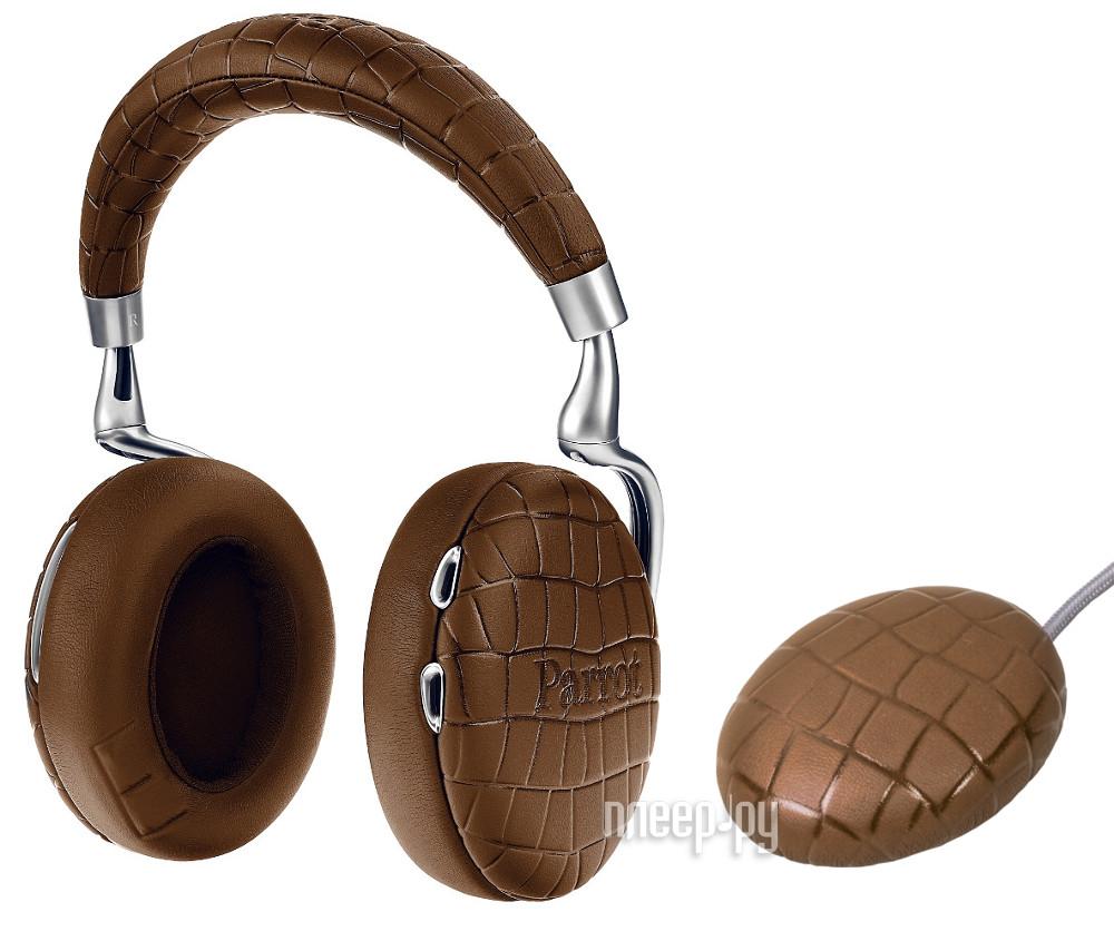 Гарнитура Parrot Zik 3 Brown Croc + беспроводное зарядное устройство PF562123