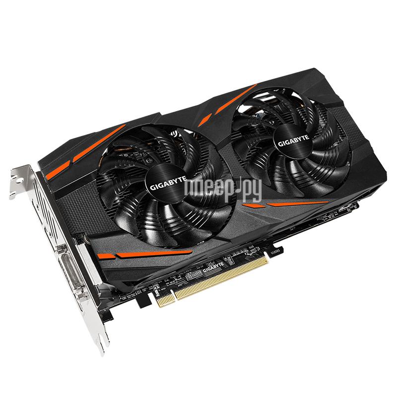 Видеокарта GigaByte Radeon RX 480 1290Mhz PCI-E 3.0 8192Mb 8000Mhz 256 bit DVI HDMI HDCP GV-RX480G1 GAMING-8GD