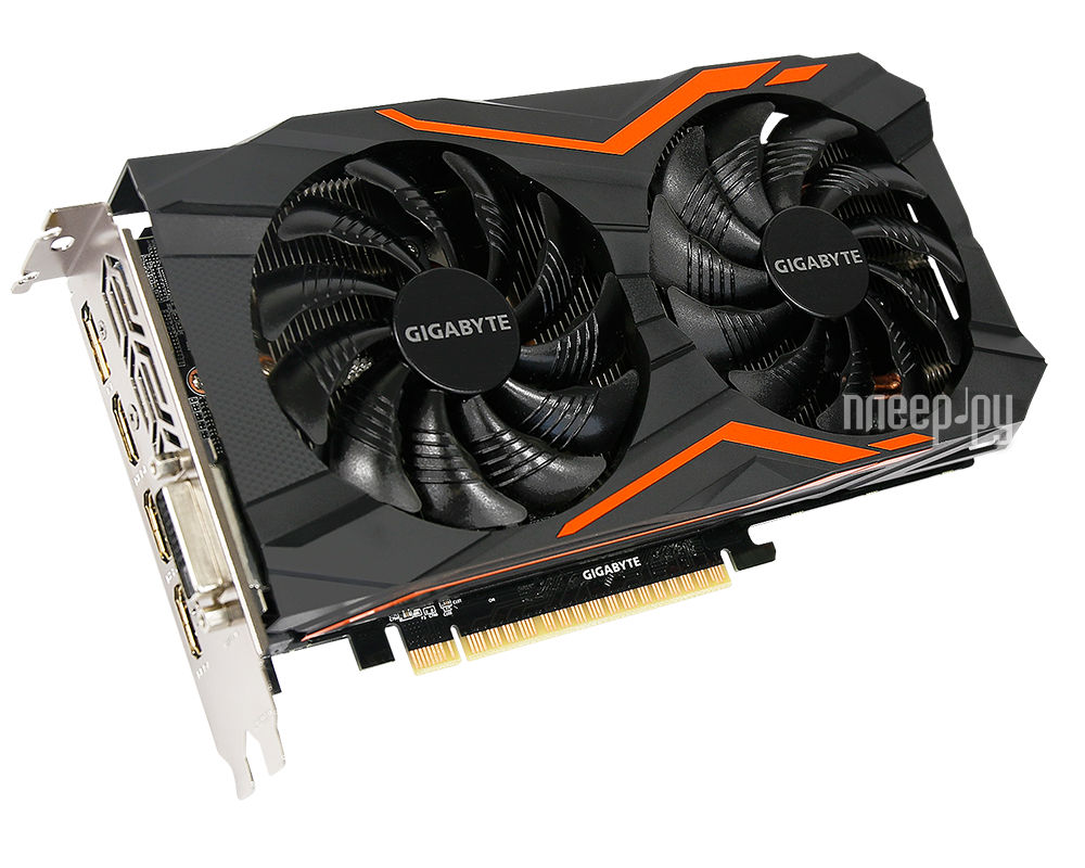 Видеокарта GigaByte GeForce GTX 1050 1417Mhz PCI-E 3.0 2048Mb 7008Mhz 128 bit DVI 3xHDMI HDCP G1 Gaming GV-N1050G1 GAMING-2GD