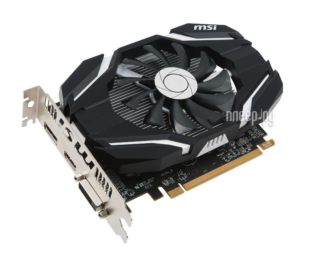 Видеокарта MSI Radeon RX 460 1210Mhz PCI-E 3.0 2048Mb 7000Mhz 128 bit DVI HDMI HDCP RX 460 2G OC