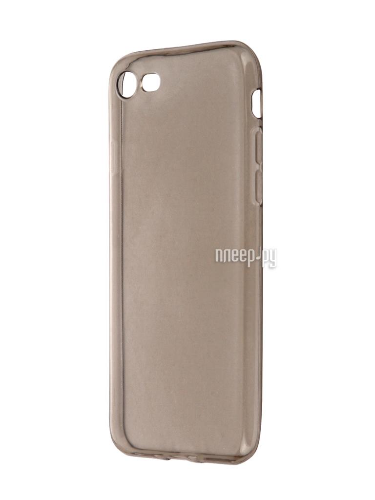 Аксессуар Чехол Krutoff для APPLE iPhone 7 Transparent-Black 11786