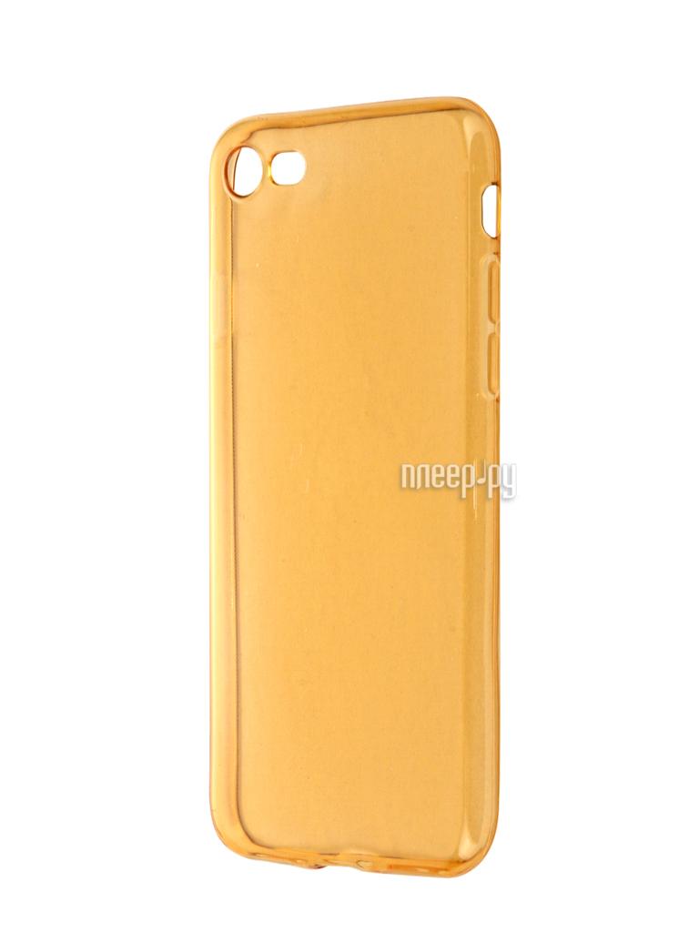 Аксессуар Чехол Krutoff для APPLE iPhone 7 Transparent-Gold 11787
