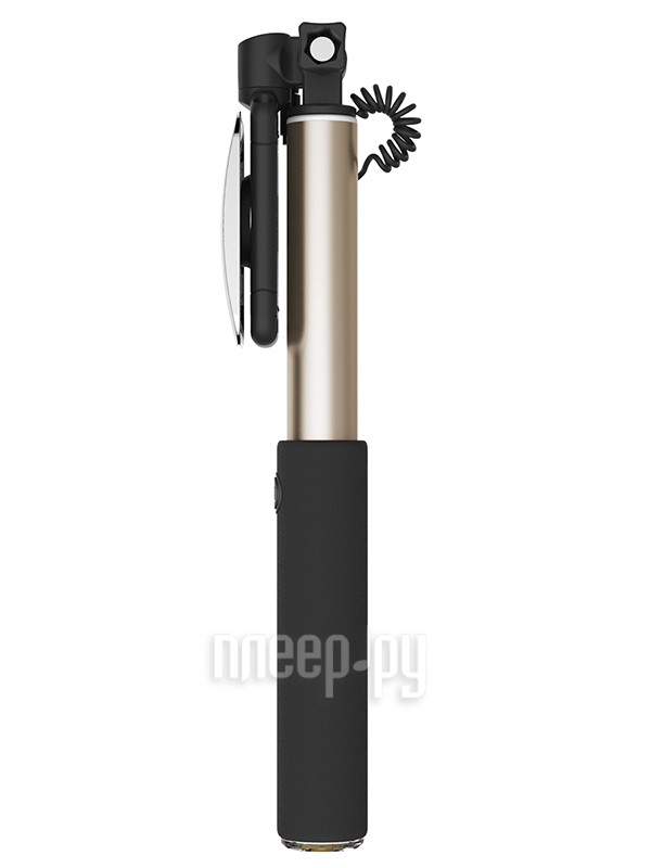 rock selfie stick with lightning wire control mirror gold rot075. Black Bedroom Furniture Sets. Home Design Ideas