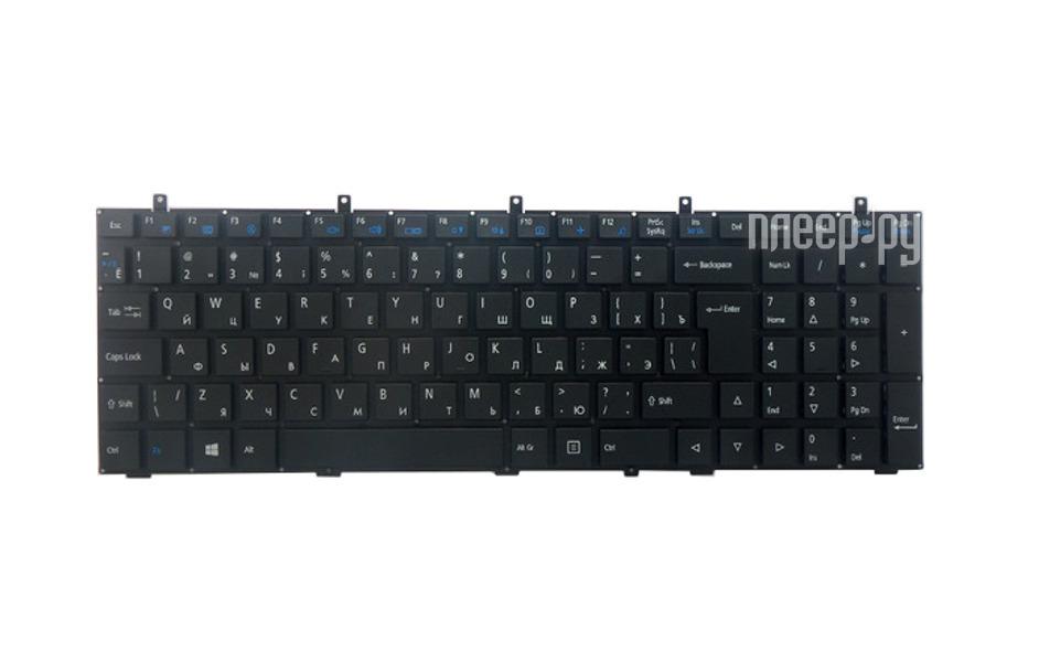 Клавиатура TopON TOP-100415 для Clevo W350 / W370 / W650 / W655 / W670 Black