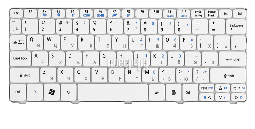 Клавиатура TopON TOP-90688 для Acer Aspire One 532 / 532h / AO532H / AOD532H / D255 / D527 / D260 / NAV50 / Gateway LT21 / E-Machines