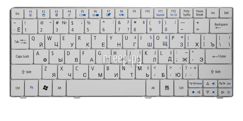 Клавиатура TopON TOP-81883 для Acer ONE 751 / 1410 / 1810T / Ferrari One / 3935 / 3936 / Gateway EC14 / LT31 Series White