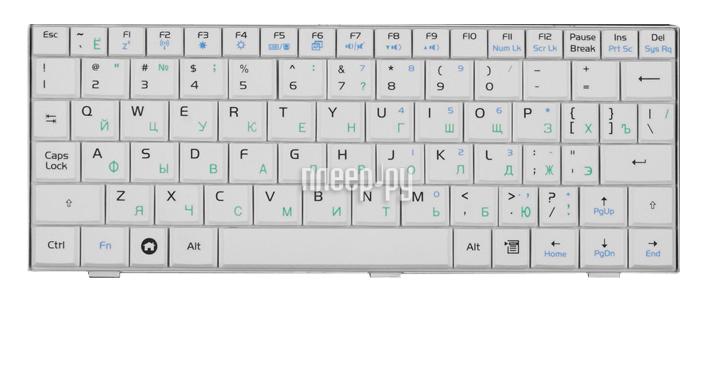 Клавиатура TopON TOP-77192 для ASUS Eee PC 700 / 701 / 900 / 901 Series White